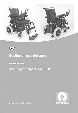 Invacare Compact 902 Bedienungsanleitung